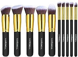 Luxebell® 10pcs Make-up Pinsel Set professionellen Kosmetik Set Satz Augenbrauen Schatten Cosmetic Foundation Concealer Bürsten