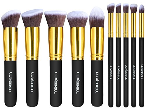 Luxebell® 10pcs Make-up Pinsel Set professionellen Kosmetik Set Satz Augenbrauen Schatten Cosmetic Foundation Concealer Bürsten