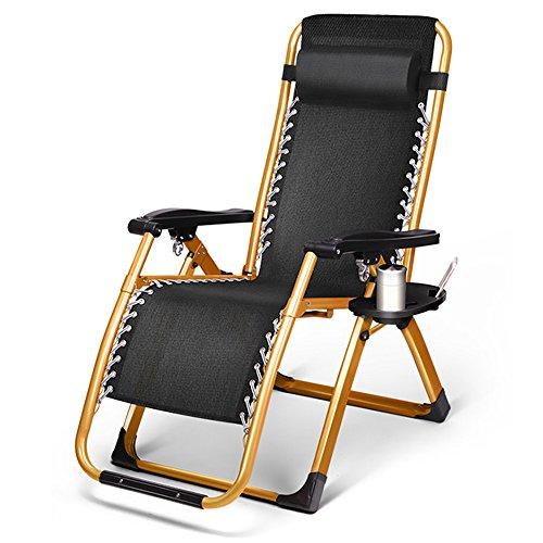 FEIFEI Fauteuils inclinables Coussin de luxe de pli de chaise longue de luxe de coussin de chaise longue de pli de Recliner Pliant (Couleur)