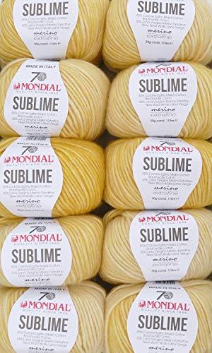 theofeel Sonderposten 500g Wollpaket Mondial Sublime Fb 881, Merinowolle Extrafine mit Baumwolle, Wolle zum Stricken und Häkeln, dezenter Degradé Farbverlauf