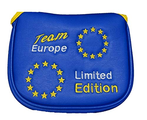 Team Europe Limited Edition Magnetische Mallet Golf Putter, 2Ball, Spider, Odyssey Fang, Cameron Mallet (Putter Odyssey Cover)