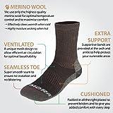 Rymora Merino Wool Hiking Socks (Premium Quality Merino Wool, Seamless Toe Construction, Ventilation Mesh, Supportive Arch Band, Ankle Protection)