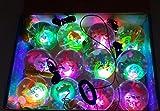 Fulla2116 Bunte Blitz Springen Ball Leuchtende Kristall Elastische Ball Spielzeug