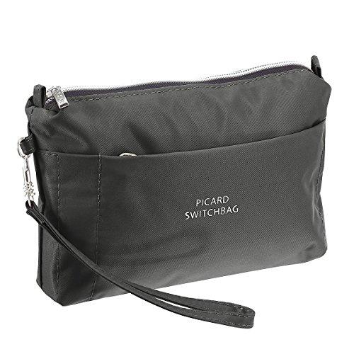 Picard Damen Switchbag Handgelenkstasche, Grau (Anthrazit), 3x15x20 cm
