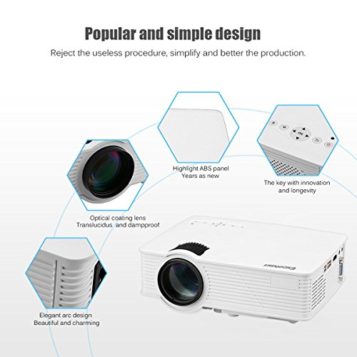 1080P HDMI Mini LED Multimedia Home Theater Projector 1200 Lumens