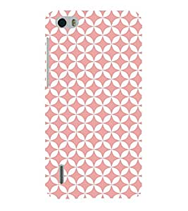 Baby Pink Self Diamond 3D Hard Polycarbonate Designer Back Case Cover for Huawei Honor 6