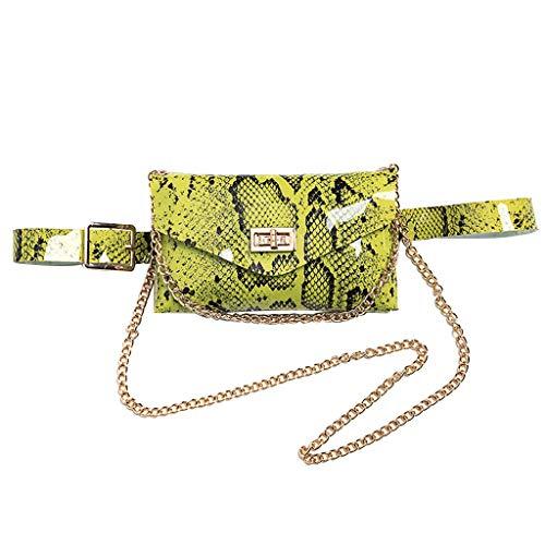 Ledertasche, Schultertasche, Geschenk, Handgefertigte Tasche,Frauen Hüfttasche Serpentine Gürteltasche Leder Mode Schlangenhaut Gürtel ()
