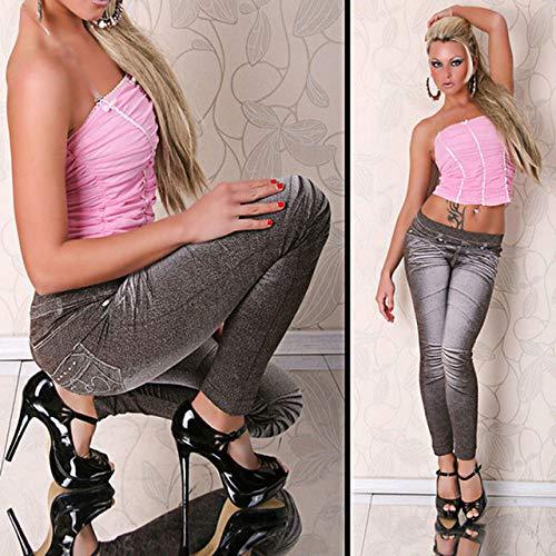 Fgjhgh leggings da lavoro leggings grigio stile alla moda leggings da donna leggings alla moda super deal jeans tipo legging, tinta unita, taglia unica