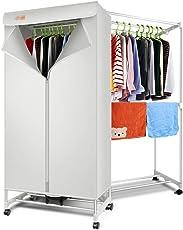 Bequemer Trockner, 15kg quadratischer doppelter elektrischer intelligenter Wäscherei-Trockner-Aufhänger, 180 Minuten Thermostat-Timing, Heizung 900w