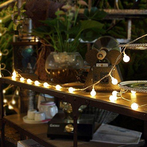 elegantstunning LED Lichterketten, 39 ft 100 LEDs Ball Fairy Light, wasserdichte dekorative Sternenlichter für Schlafzimmer Parties, USB, Warmes Weiß