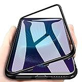 WindCase VIVO Nex S Hülle, Hybrid Metall Aluminium Bumper mit Magnetplatte +Transparent Gehärtetes Glas Rückschale 360 Grad Schutzhülle für VIVO Nex S Schwarz [mit Panzerglas Schutzfolie]