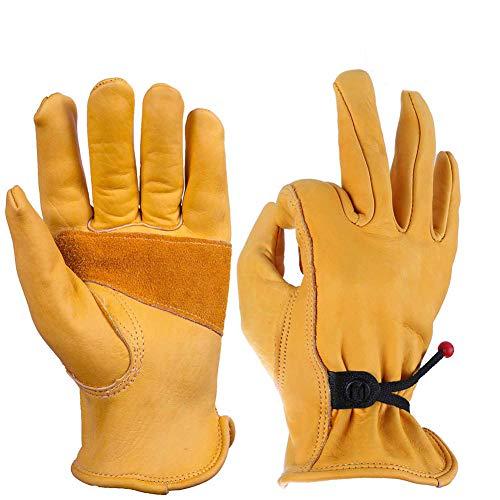 Preisvergleich Produktbild Rindsleder Beissschutz Handschuhe,  Hundefeste Beißende Eidechse Reptil Fang Schlange Fang Maus Hamster Gecko Catching Katze Eichhörnchen Pet Igel, XL