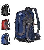 GEIGELSTEIN 35 Liter Bergsteiger Rucksack Inklusive Raincover, mit Gratis Bergsicherheits Guide als E-Book, für Berg-Sport, Trekking, Wandern, Mountain-Bike, Outdoor und Reise (Dunkelblau)