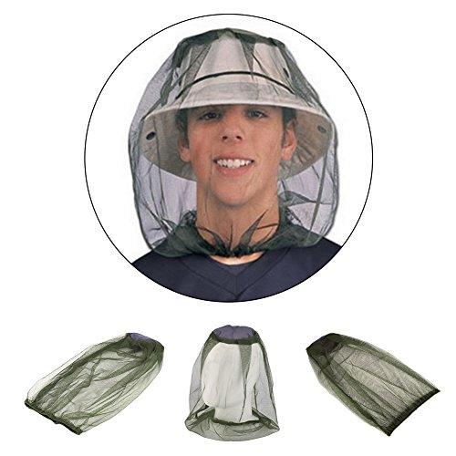 Hinmay - Protector de malla para la cara de la cabeza de mosquitos, ligero, para viajes, camping, pesca al aire libre