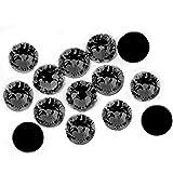 500Crystal strass 3mm en noir à coller. No hoffix (Noir)