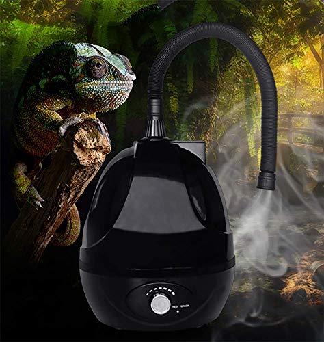YEIU Reptiles y Anfibios Higrostatos-2.5 L Tanque Anfibios Reptil Fogger humidificador vaporizador Niebla Maker generador