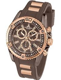 Jacques Lemans Herren-Armbanduhr XL Liverpool Professional Chronograph Quarz Silikon 1-1805F