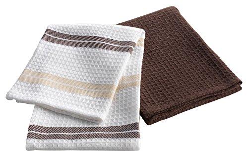Douceur d 'Intérieur Set 2Geschirrtücher Saveur Baumwolle Choco 50x 70cm (Choco-bettwäsche-set)