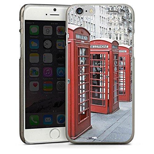 Apple iPhone 5s Housse étui coque protection Cabine téléphonique rouge Angleterre Grande-Bretagne CasDur anthracite clair