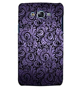Citydreamz Black Silver Texture Floral Pattern Hard Polycarbonate Designer Back Case Cover For Samsung Galaxy J5