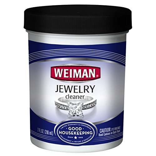 Weiman Jewelry Cleaner Liquid  Restores Shine and Brilliance to Gold, Diamond, Platinum Jewelry & Precious Stones  7 fl. oz.