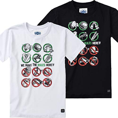 the latest ea808 c20e4 PG Wear Herren T-Shirt Our Rules schwarz weiß S-XXXL