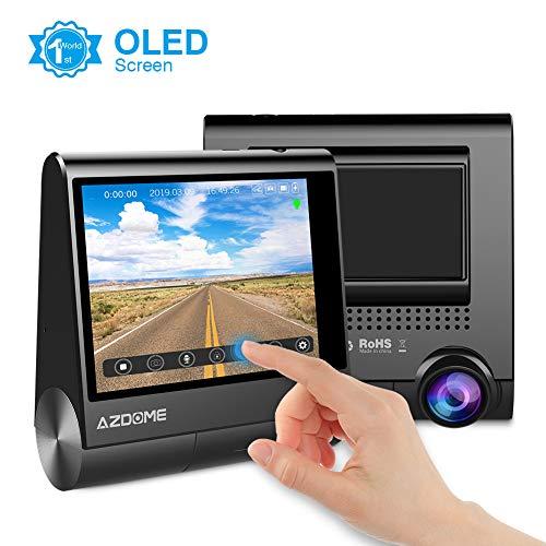 """AZDOME GPS Dashcam 1080P mit 3\"""" OLED Touchscreen, 170° Weitwinkelobjektiv, Loop-Aufnahme, G-Sensor, Parkmonitor und infrarote Nachtsicht Autokamera Auto Dashcam KFZ(M05)"""