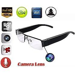 EPTEK @ HD 1080P Mini espía oculta Gafas de Video Digital Cámara Gafas DVR Videocámara Niñera gafas ocultas Cámara DV Grabadora de Vídeo