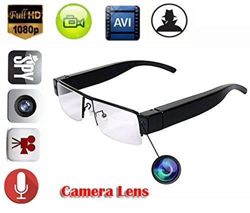 EPTEK @ 1080P HD Mini Spy versteckte Digital Video Brille Kamera Eyewear DVR Camcorder Brillen Nanny Kamera DV Video recorder (Brille Video Recorder)