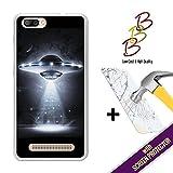 Coque Gel pour Doogee X20 - X20L, [ +1 Protecteur d'écran Verre Trempé ] Coque Etui Housse Silicone TPU 3B, protège et s'adapte a la perfection a ton Smartphone - OVNI.