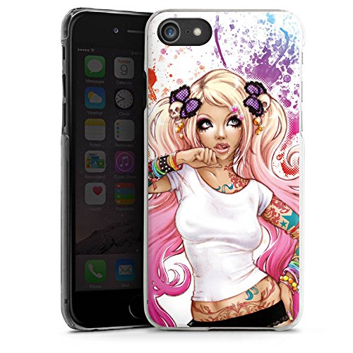 Apple iPhone X Silikon Hülle Case Schutzhülle Mädchen Tattoos Comic Hard Case transparent