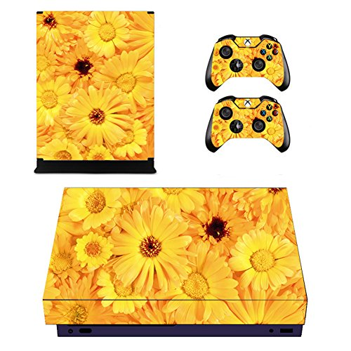 Wondder Xbox One X Pegatina de Piel, Pegatina de Piel Adhesiva de Vinilo de Protección para Xbox One X Consolas + 2 Pieles de Controlador + 2 x Agarraderas de Silicona (Color 18)