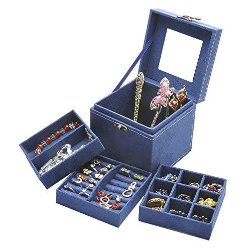 LH Zhenzhi Schmuck Box Koffer Schmuck Aufbewahrungsbox Velvet Geschenk