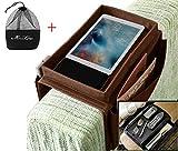 Ipenny divano divano bracciolo organizzatore da letto TV Remote Holder Storage Bag tasca per il cellulare tablet Notepad Book riviste DVD Eyewears drinker spuntini del sacchetto Coffee (With Top Tray)