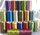 20Metallische Garnspulen für Stickerei-Maschine, 20verschiedene Farbe je 366 m, hochwertige Qualität.