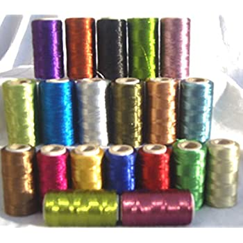 20 Colours 20 Multi Metallic Embroidery Thread spools 400 Meters EACH