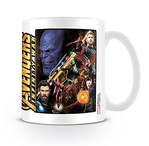 Close Up Marvel Avengers Infinity War Tasse Space Montage
