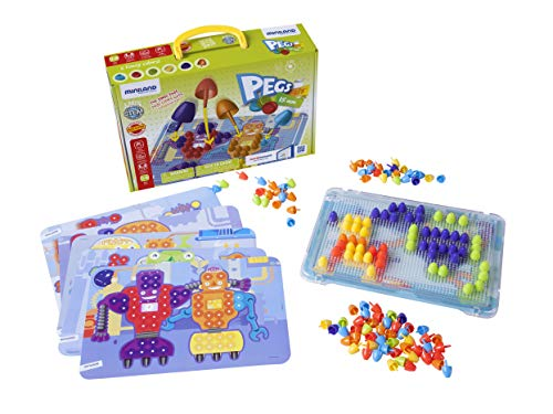 Interactive Peg Board Game with 150 Pegs & 6 Worksheets, 5/8