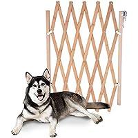 Barrera de seguridad para mascotas de perros pequeños Barrera extensible doméstica de madera (B)