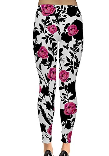 CowCow Damen Leggings Rosa Korallenrot Rosa - Pink Rose
