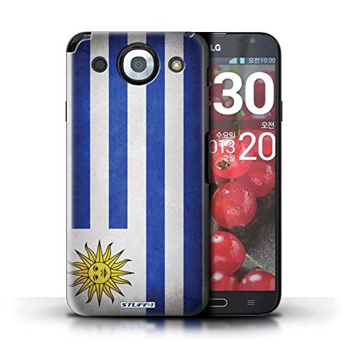 Kobalt® Imprimé Etui / Coque pour LG Optimus G Pro / Pays-Bas conception / Série Drapeau Uruguay/Uruguayen