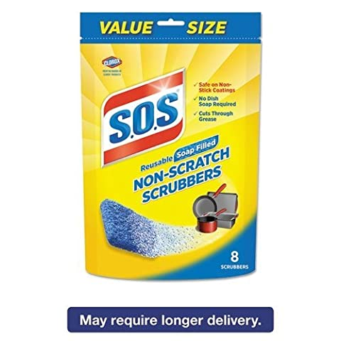 S.O.S. Non-Scratch Soap Scrubbers, Blue, 8/Pack by S.O.S.?