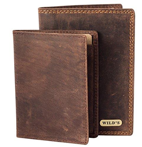 Edle Herren Geldbörse aus Leder Vintage + viele Kartenfächer Echtleder Männer Brieftasche Braun Geldbörse Portemonnaie Portmonee