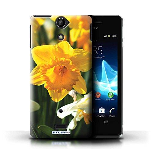 Kobalt® Imprimé Etui / Coque pour Sony Xperia V/LT25i / Rose rose conception / Série floral Fleurs jonquille