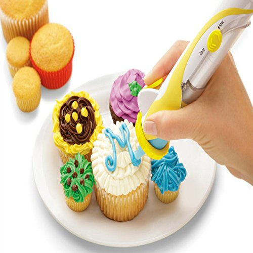 Magic Cup Cake Cookie Pastry Decorating Supplies Frosting Deco Pen Set (Decorating Cookie Supplies)