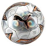 Puma One Laser Ball Fußball, Silver/Shocking Orange Black, 5
