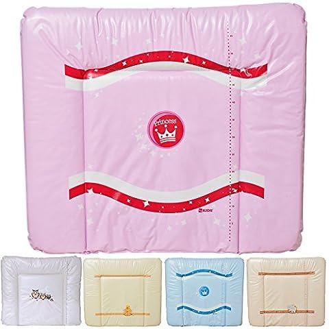 LCP Kids Baby Wickelauflage MATI 80 x 70 abwaschbare Unterlage als Softmatte - Princess