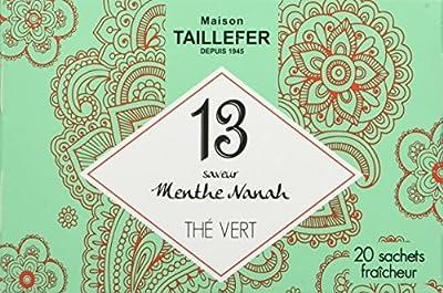 Maison Taillefer Thé Vert Menthe en Sachet Individuel Boîte de 20 Sachets - Lot de 5