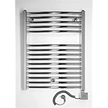 Radiador Toallero eléctrico, cromado, curva, disponible en diferentes tamaños, toallero, Secador de toalla - 775h x 500b