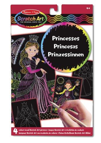 Melissa & Doug - Imágenes Scratch Art con revelación de colores, con princesas (15958)